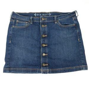 Old Navy Button down jean skirt SZ 10